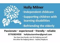 Independent Carer for children with Learning Disabilities (Qualified & DBS)