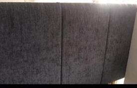 £10 bargain! Grey small double headboard- like new!
