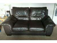 DFS brown leather sofas great condition