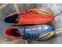Men's football boots, size 10