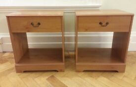 Bedside Cabinets / Tables Pair
