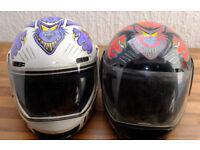 2 vintage bike helmets