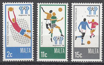Malta Nr. 571-573** Fußball WM 1978 Argentinien / Football World Cup Argentina