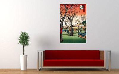 Japanese Landscape Art Hiroshige Kamada No Umezono Large Print Poster Wall