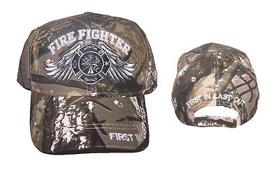 Fireman Fire Fighter Angel Wings Camo Baseball Caps   Embroidered (7501F13**)