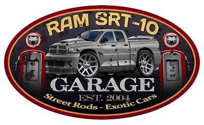 Dodge Ram SRT-10 Viper Quadcab Pickup Truck Garage Sign Wall Art Graphic (Dodge Viper Srt 10 Truck)