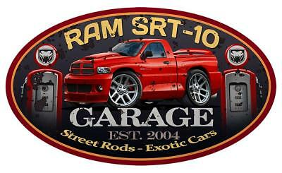 Dodge Ram SRT-10 Viper Pickup Truck Garage Sign Wall Art Graphic (Dodge Viper Srt 10 Truck)