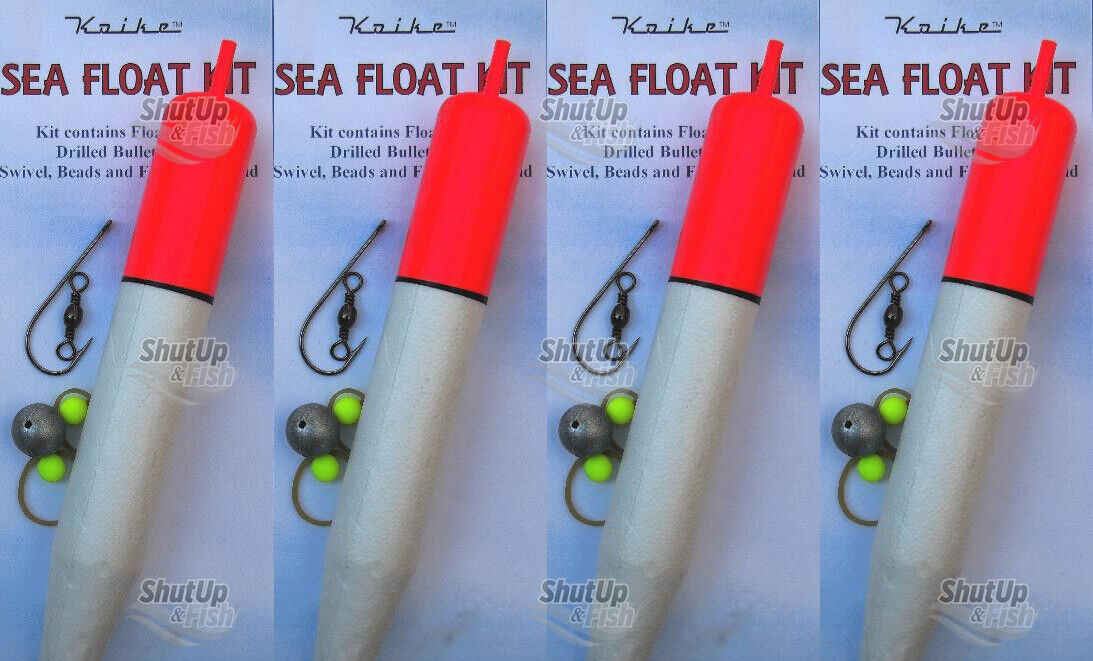 4 x Tronix Pro Large Sea Pike Fishing Complete Float Kits FREEPOST sliding