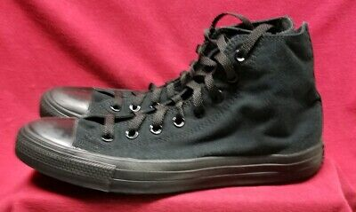 Mens Black Converse All Star Hightop Shoes US 10.5 Chuck Taylor Close To New