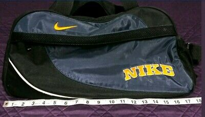 """Nike Gym Bag Equipment Track Sports Duffle 18"""" Blue Orange Black Nylon  for sale  Shipping to South Africa"""