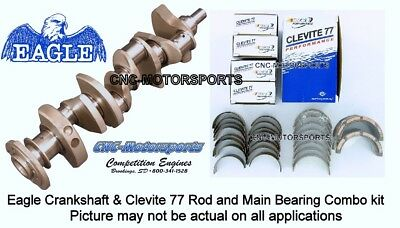 SB Chevy 350 Eagle 4340 Forged Steel Crankshaft 3.500 Light Weight with Bearings Lightweight 4340 Forged Crankshaft