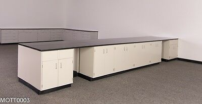 20 Ft 2-Sided Island - Laboratory Cabinets with Two Desk Areas and Counter Top, used for sale  Rockford