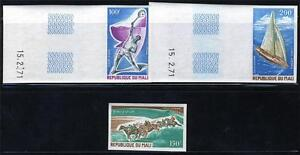 MALI-SPORT-TENNIS-DERBY-AMERICAS-CUP-SET-OF-3-IMPERF-SINGLES-MNH-AS-SHOWN
