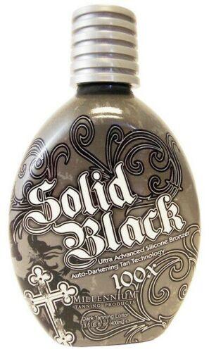 Millennium SOLID BLACK 100X Bronzer Dark Tanning Lotion Indoor Outdoor -13.5 oz