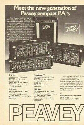 1978 Peavey XR-600 Mixer-Amp, PA-100, PA-200 & Standard - Vintage Ad for sale  Shipping to Ireland