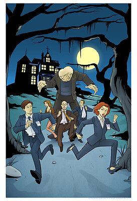 X-Files Sci-Fi Halloween Style Comic Book Cover Artwork Fine Art Giclée on Paper (Halloween X Files)