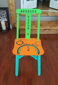 TIME OUT CHAIR(Hand painted)