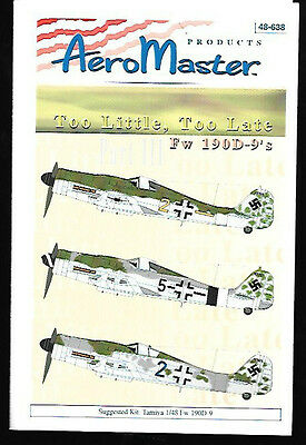 Aeromaster Too Little Too Late Focke Wulf Fw 190D-9 Part 3 Tamiya 1/48 AN48638