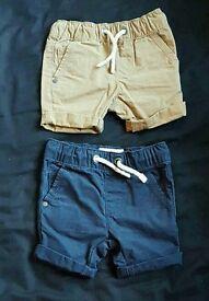 2x boys chino shorts