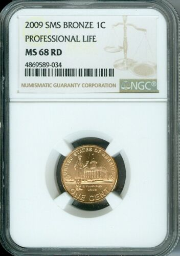 2009 D LINCOLN CENT PROFESSIONAL LIFE NGC MS68 RED SMS