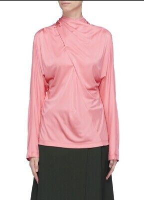 CÉDRIC CHARLIER TIE CROSS NECK TOP UK SIZE 12**Sold out RRP£290