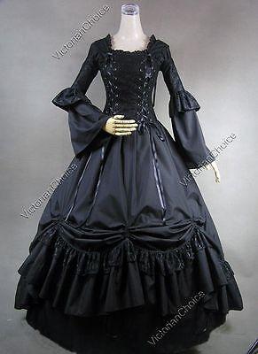 Victorian Renaissance Corset Dress Gown Theater Period Steampunk Clothing 112