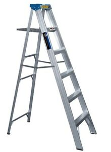 6ft Aluminum Folding Step Ladder  - $50