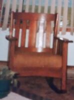 Have you seen this wooden rocking chair?