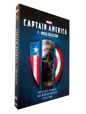 CAPTAIN AMERICA 1, 2 & 3 Collection [DVD Box Set ] Complete Trilogy Brand New