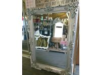 Antique silver highly ornate gothic mirrors brand new Sale