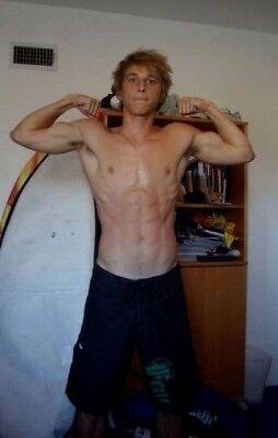 Shirtless Male Muscular Beefcake Flexing Pose Arm Pits Blond Jock PHOTO 4X6 F673