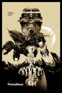 Mondo Prometheus Variant Signed Martin Ansin Ridley Poster