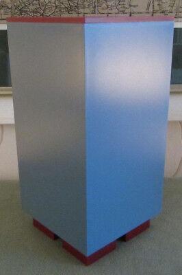 ALESSI Euclid, Memphis Serie, Design Michale Graves, Vorrats-, Dose, Blau / Rot!