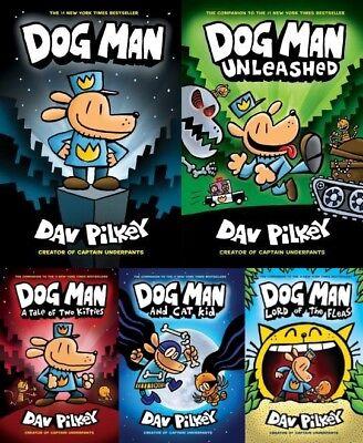 Dogman Series Set Lot Books 1-5 1 2 3 4 5 by Dav Pilkey Dog Man