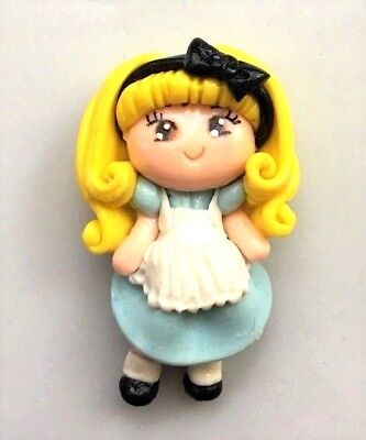 Alice In Wonderland Accessories (ALICE IN WONDERLAND FLATBACK AIR DRY CLAY HAIRBOW CENTER RIBBON)