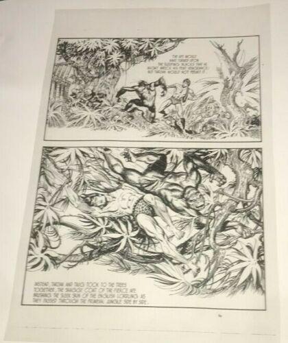 Tarzan Lord of Jungle Edgar Rice Burroughs Strip Page Production Art Acetate B