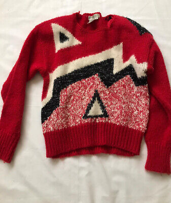 Petites By SML Vintage Womens 80's American Acrylic Wool Jumper Size M