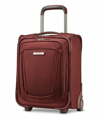 "Samsonite Silhouette Underseat 2-Wheeled Carry On 16"" Cabernet Red"