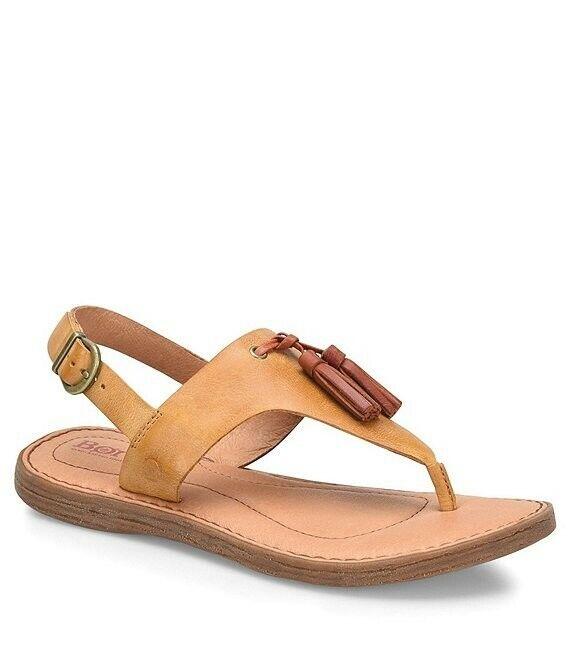 New In Box Born St. Joe Yellow Sandal Size 7 F61907