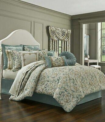 J. Queen New York Donatella Spa Jacquard California King Comforter Set 4pc