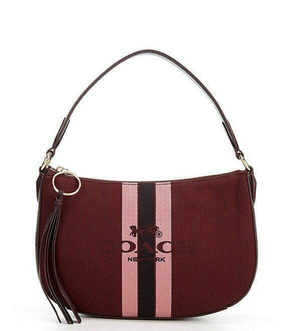 Coach Horse And Carriage Jacquard Sutton 69647 Oxblood/Gold
