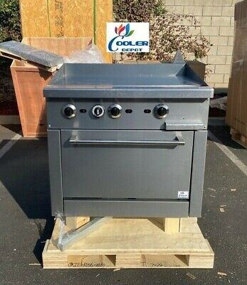 New 36 Griddle Top Oven Range Stove Commercial Kitchen Restaurant Nsf 123000btu