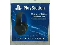 OFFICIAL SONY PLAYSTATION WIRELESS 2.0 GAMING HEADSET FOR SONY PS4, PS3, PS VITA RRP £129.99.