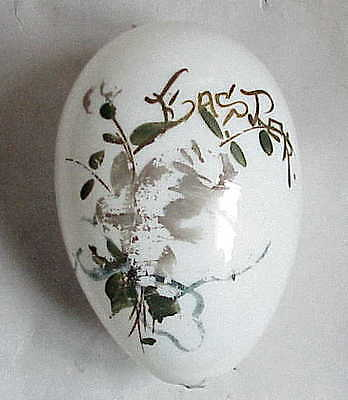 Large Antique Hand Blown Glass Easter Egg