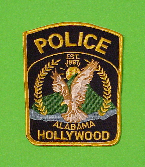 HOLLYWOOD  ALABAMA  AL EST. 1887   POLICE DEPT. PATCH  FREE SHIPPING!!!