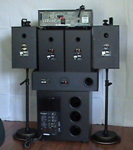 Surround Sound System 5+1 Pioneer with Paradigm Subwoofer