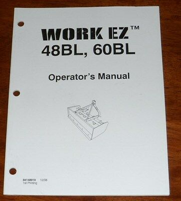 New Holland Work Ez 48bl 60bl Box Blade Operators Manual