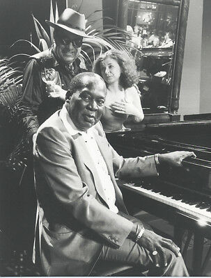 Foto amerikanischer Pianist MEMPHIS SLIM - Vintage 1984 Pressefoto USA Jazz