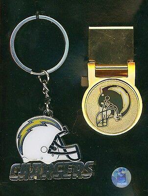 NFL Los Angeles Ladegeräte Logo Schlüsselanhänger & Geldklammer Set