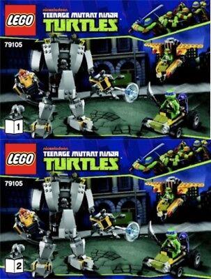 Lego Instruction Booklets Only Tmnt Baxter Robot Rampage Set 79105